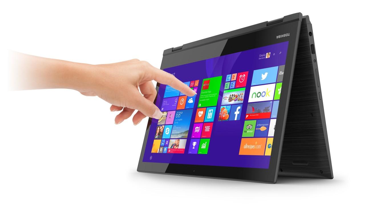 Toshibas laptop har berøringsskjerm også.