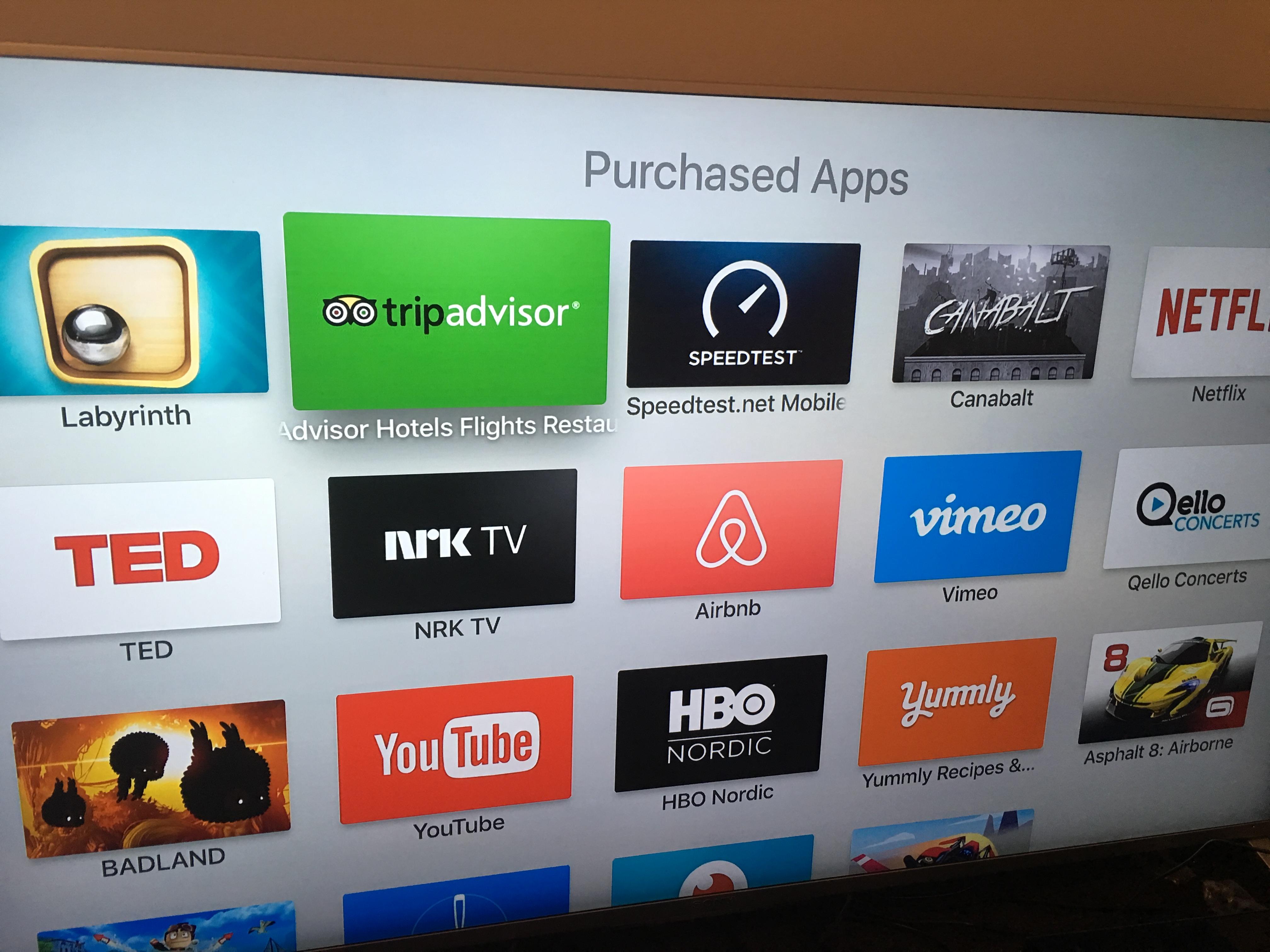 En liste over iOS-apper du allerede eier, og som har Apple TV 4-støtte.