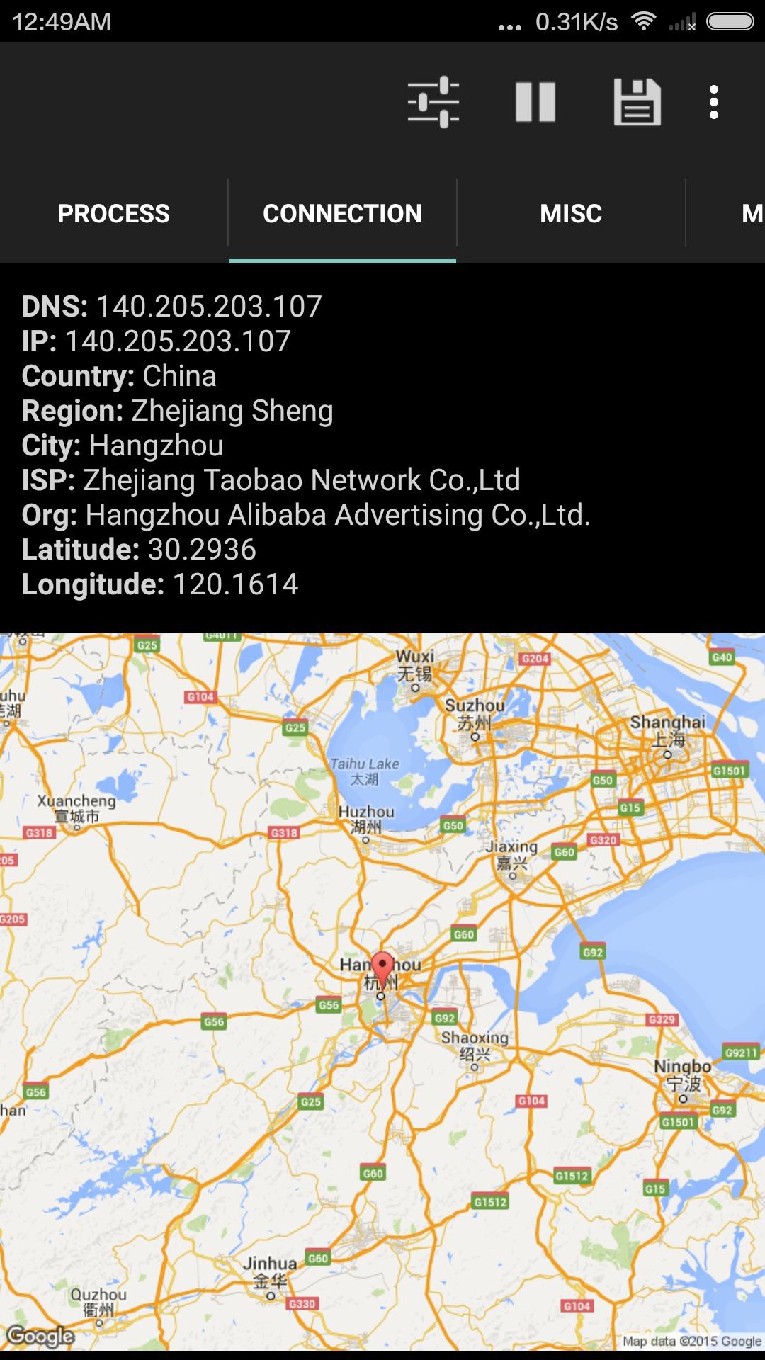 Poker-appen kobler seg til en reklameserver i Kina - det er trolig denne som nå serverer pop-up-reklame på hjemskjermen.