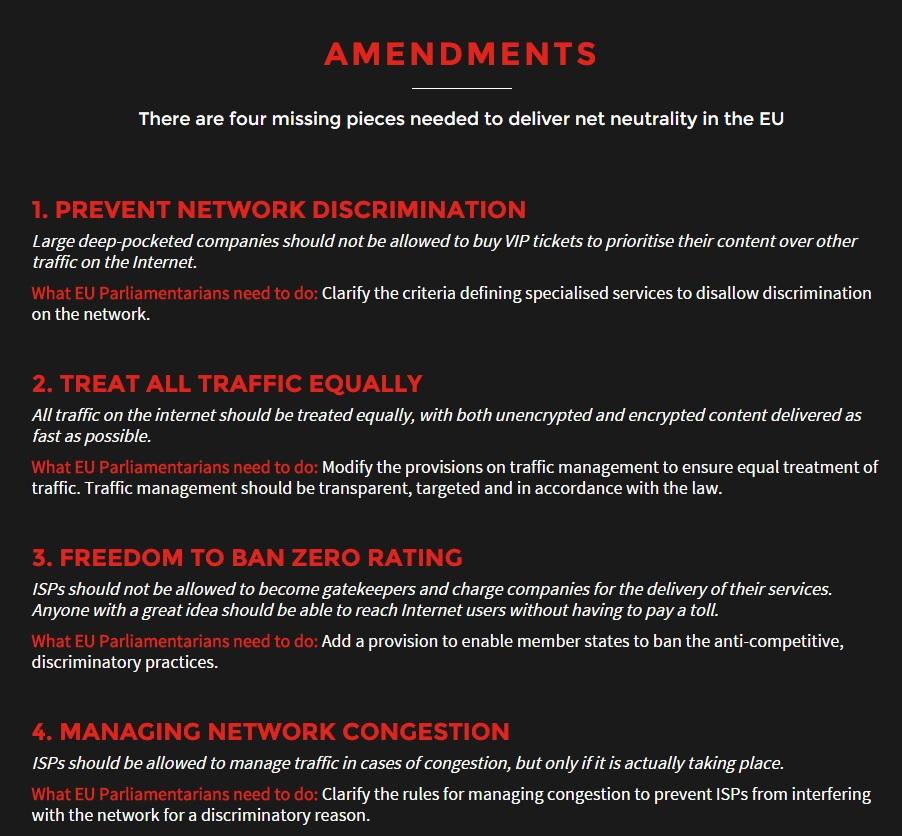 Det er disse viktige punktene savetheinternet.eu ønsker å innlemme i lovverket som ble vedtatt i dag.
