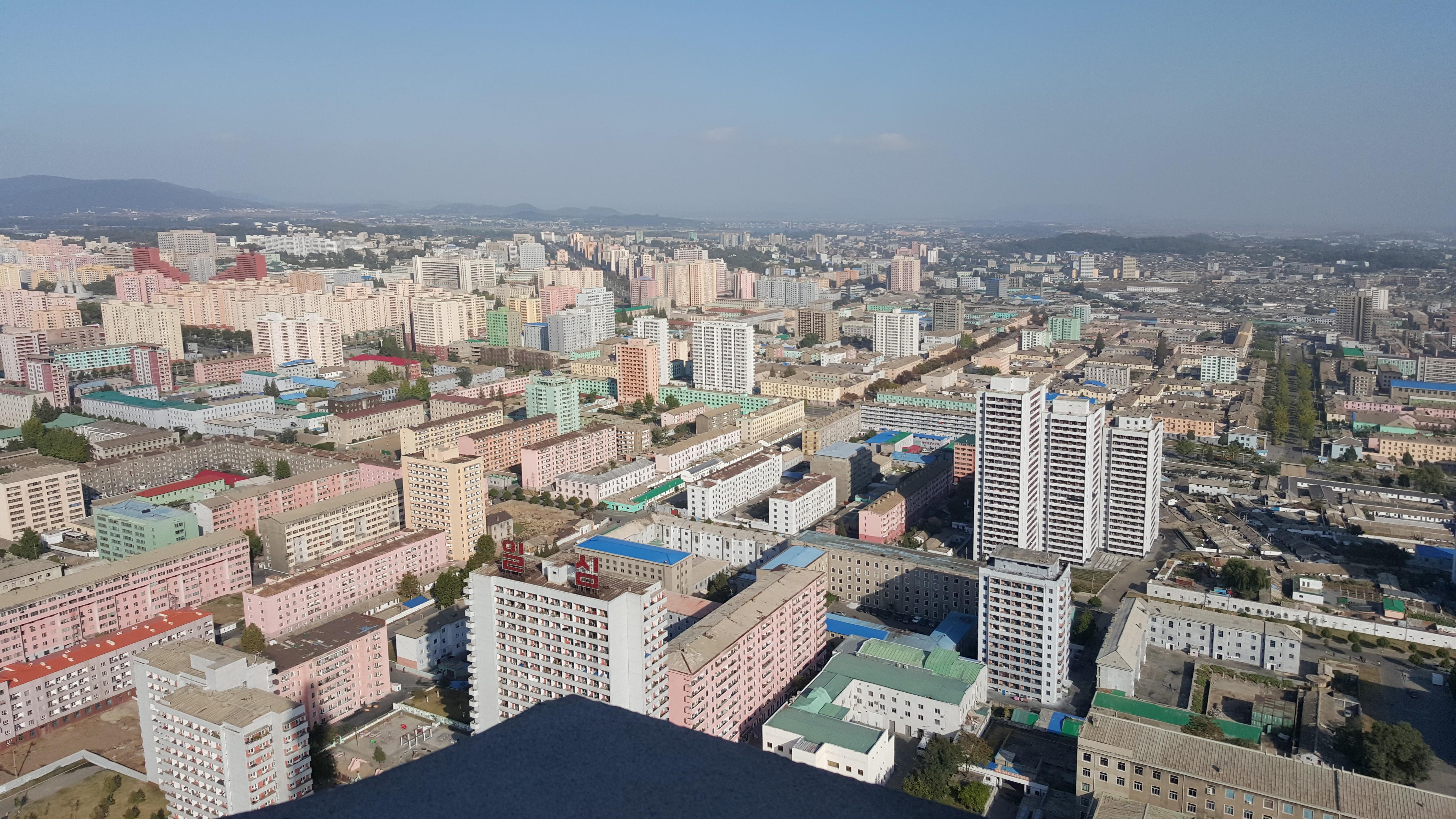 Hovedstaden Pyongyang, en by med 2,5 millioner innbyggere.