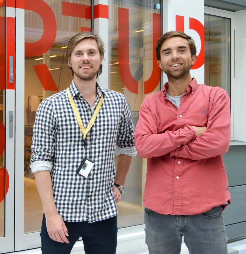 Axel Franck Næss (25) t.v og Eirik Frøyland Rime (27) startet Tise ved siden av Siv.Ing. studiene på NTNU. Nå har de flyttet tilbake til Oslo for å satse for fullt.