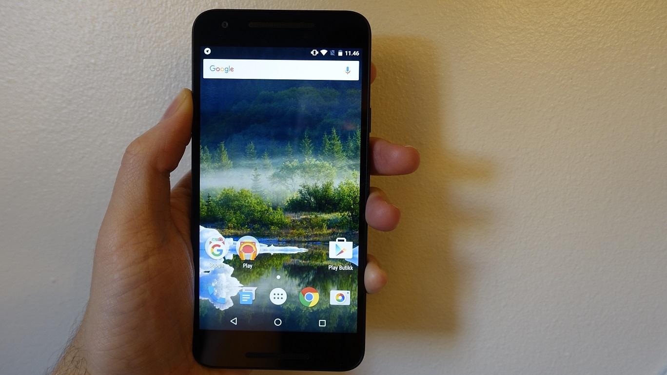 Standard Android 6 er minimalistisk og oversiktlig.