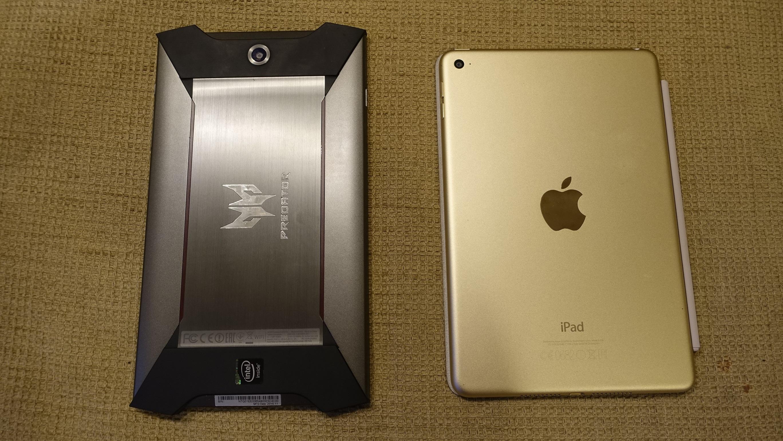 Acer og Apple har litt forskjellig designstil.