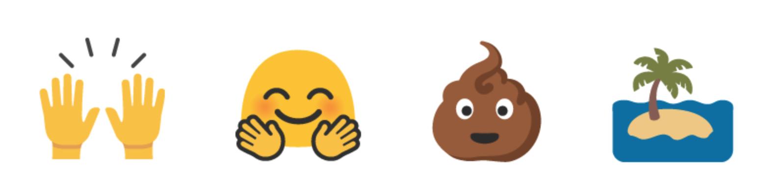 Det er 184 nye emoji-er i 6.0.1