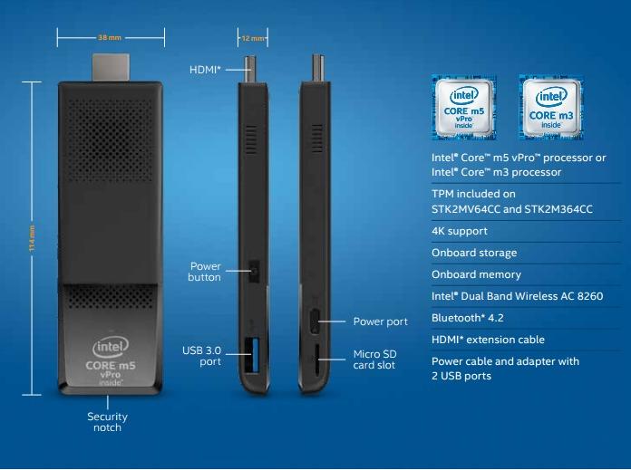 Slik er de nye Compute Stick-modellene.