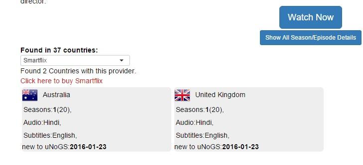 For hver tittel du ikke finner på Netflix, kan du på denne måten finne ut hvilken VPN-tilbyder som gir tilgang, og i hvilke land tittelen serveres av Netflix.