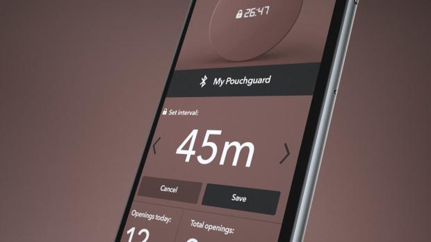 Pouchguard sin app lar deg styre innstillingene på den smarte boksen.