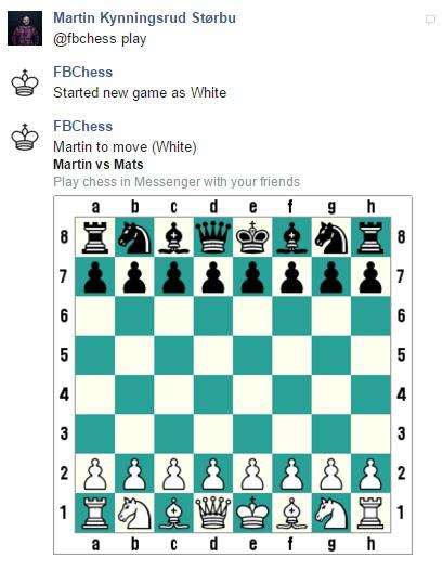 Slik aktiverer du Messenger-sjakk.