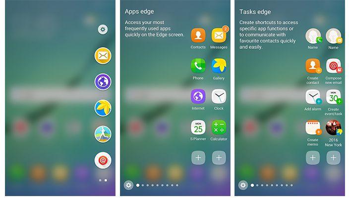 Galaxy S6 edge har fått et nytt snarveispanel.