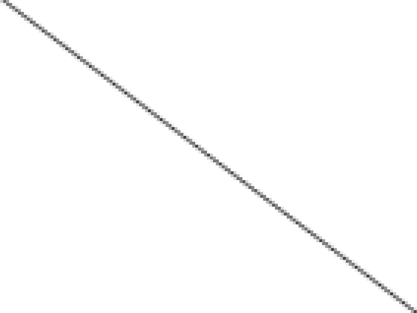 Her en anti-aliaset strek som bruker gråtoner i stedet for å tegne i svart/hvitt.