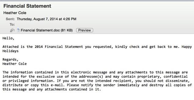 Eksempel på e-poster som brukes for å lure brukere til å åpne dokumenter.
