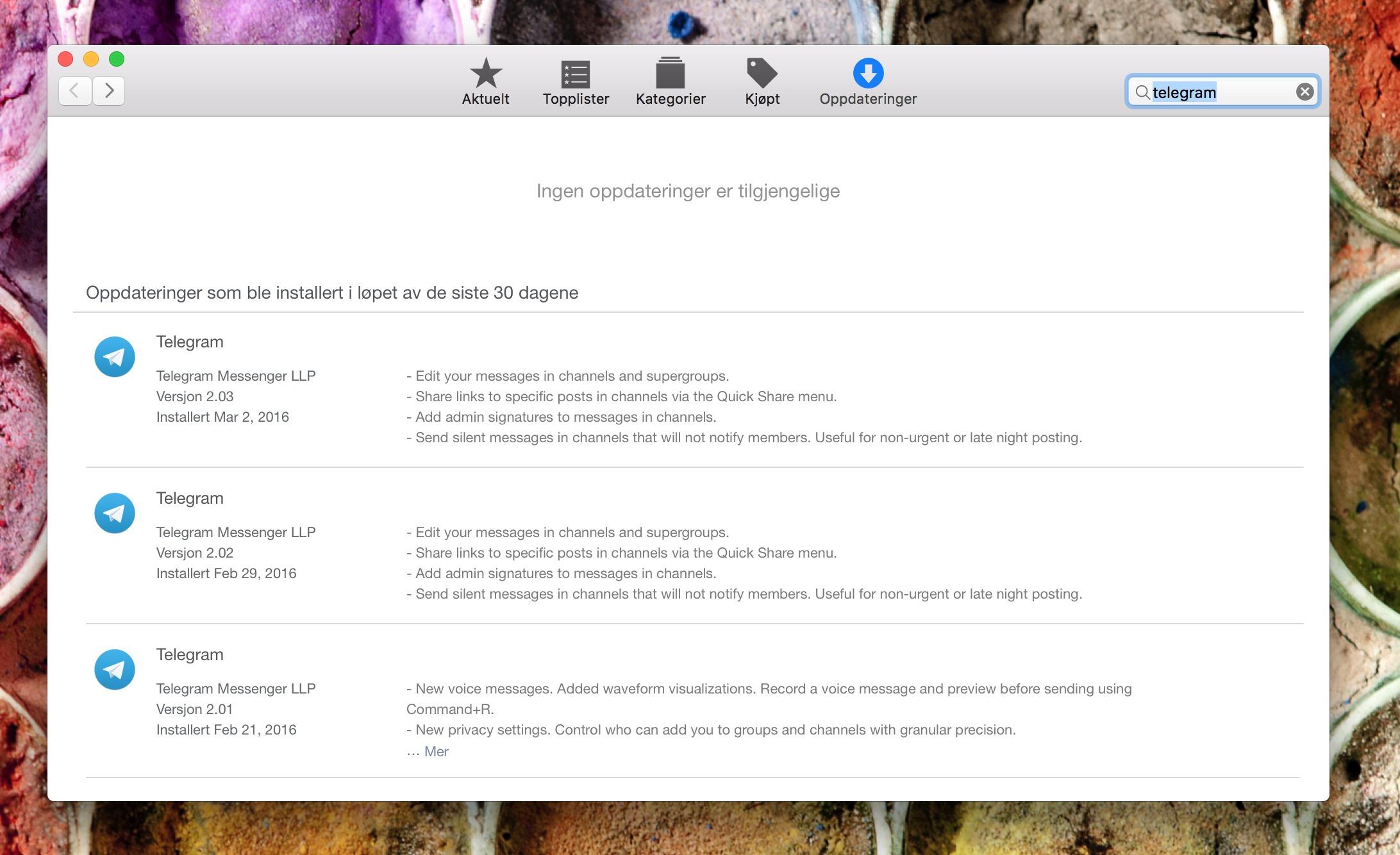 Ta en tur innom App Store i ny og ne og sjekk etter nye oppdateringer.