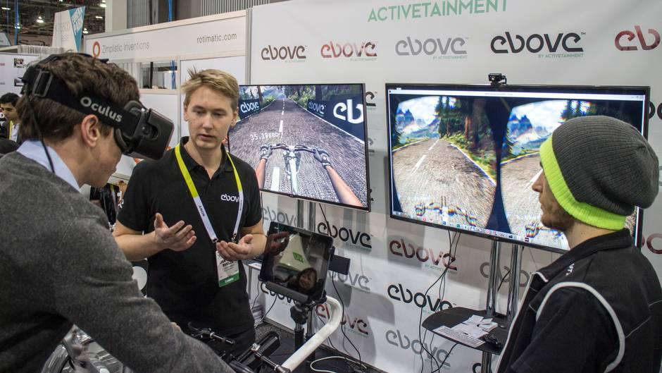 VR-demo på CES 2015.