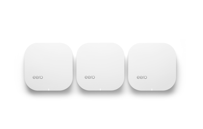 Slike Eero-enheter plasseres rundt i boligen.
