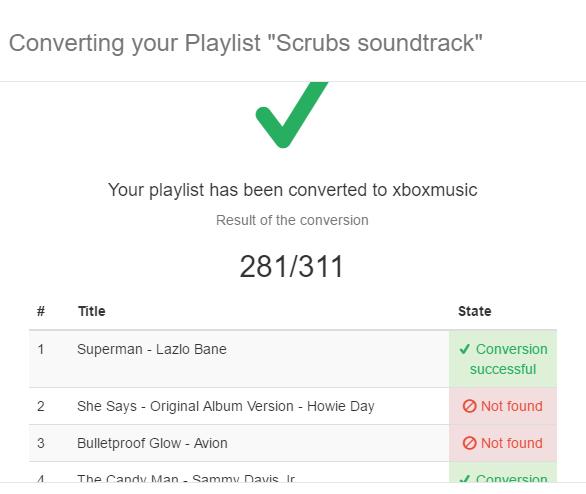 Ikke alle sangene finnes på begge.