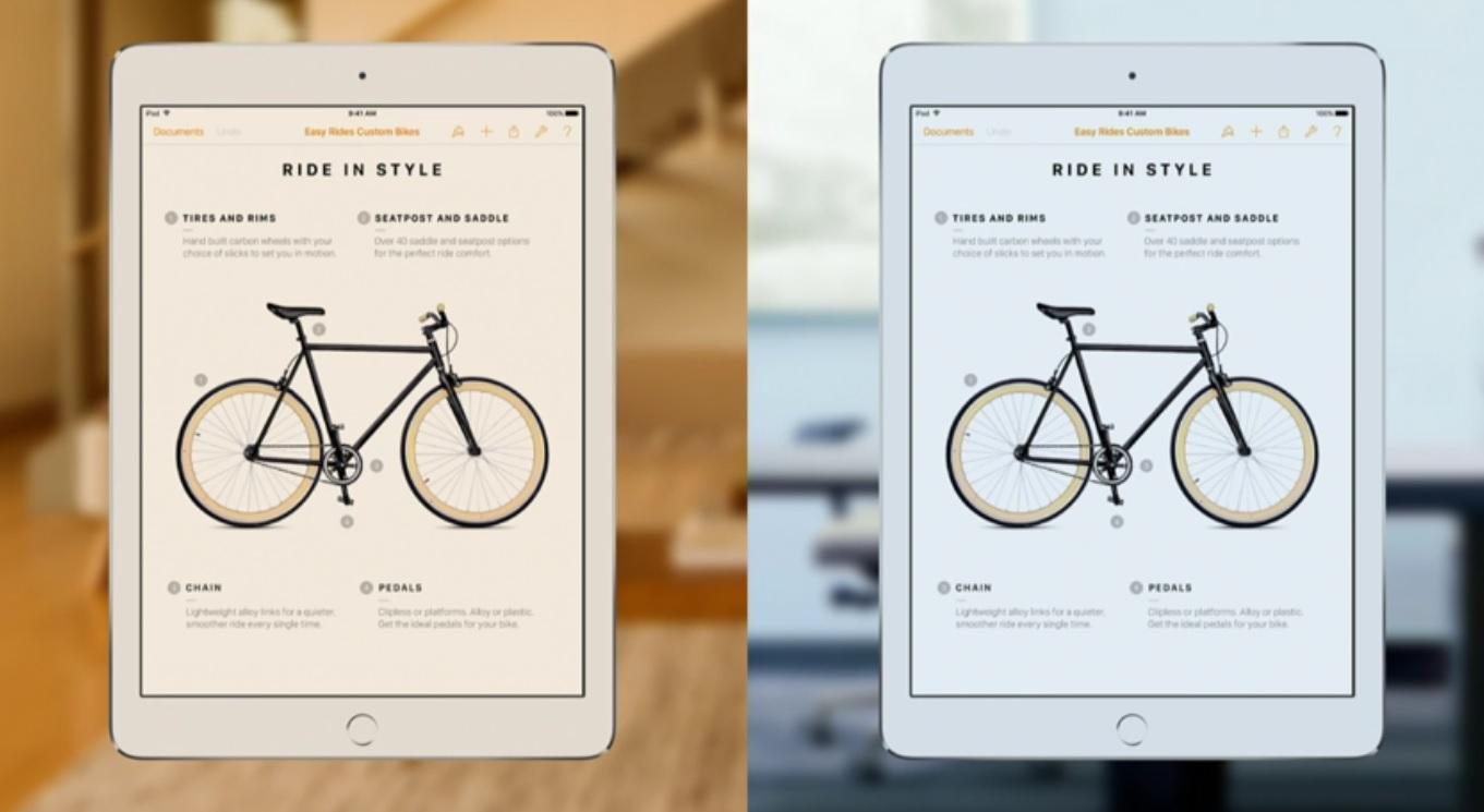 Nye iPad Pro har True Tone-panel.