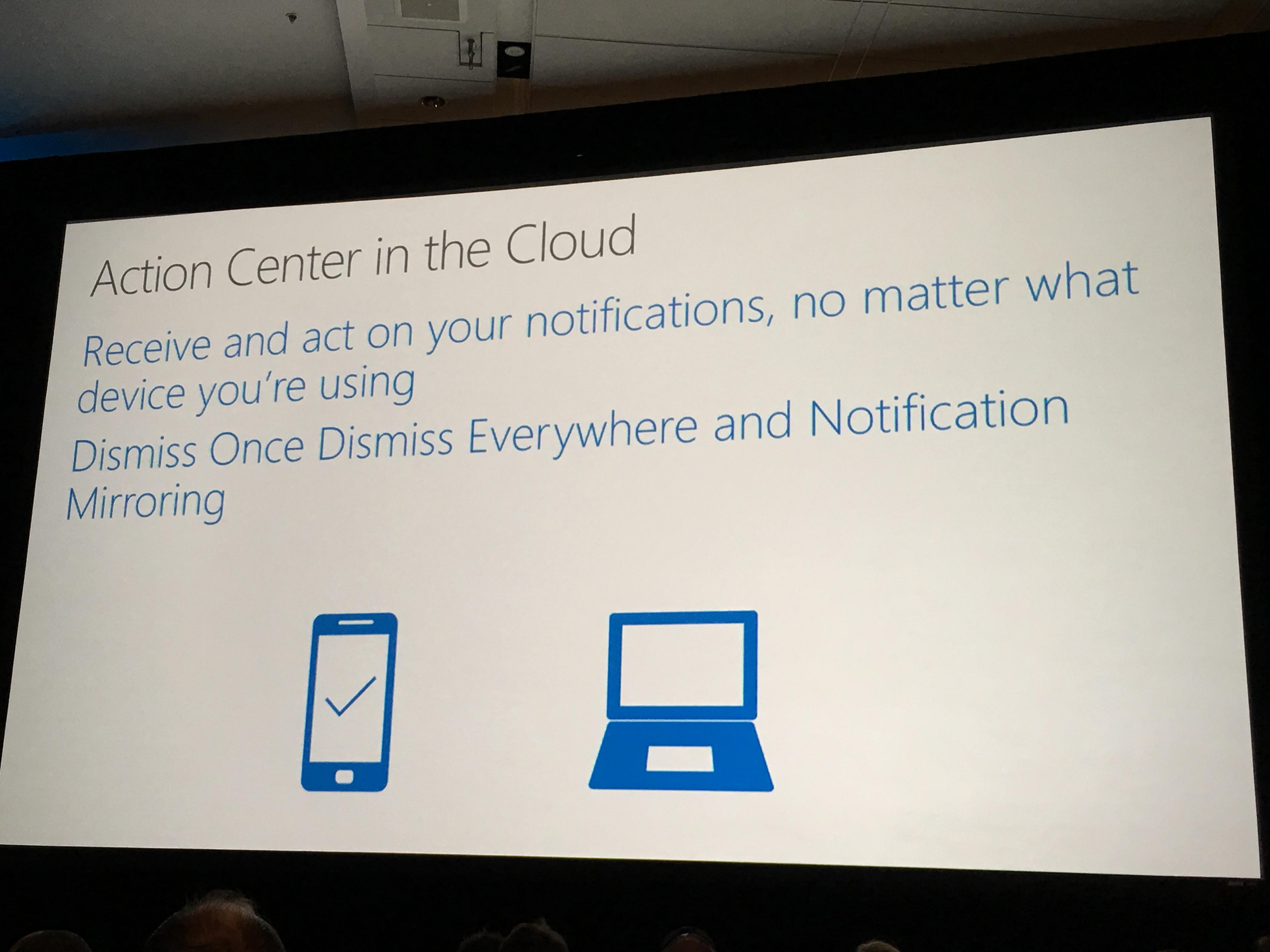 Endelig synkroniseres alle varsler mot skyen, slik at man slipper å slette varsler manuelt på alle dingsene med Windows 10.