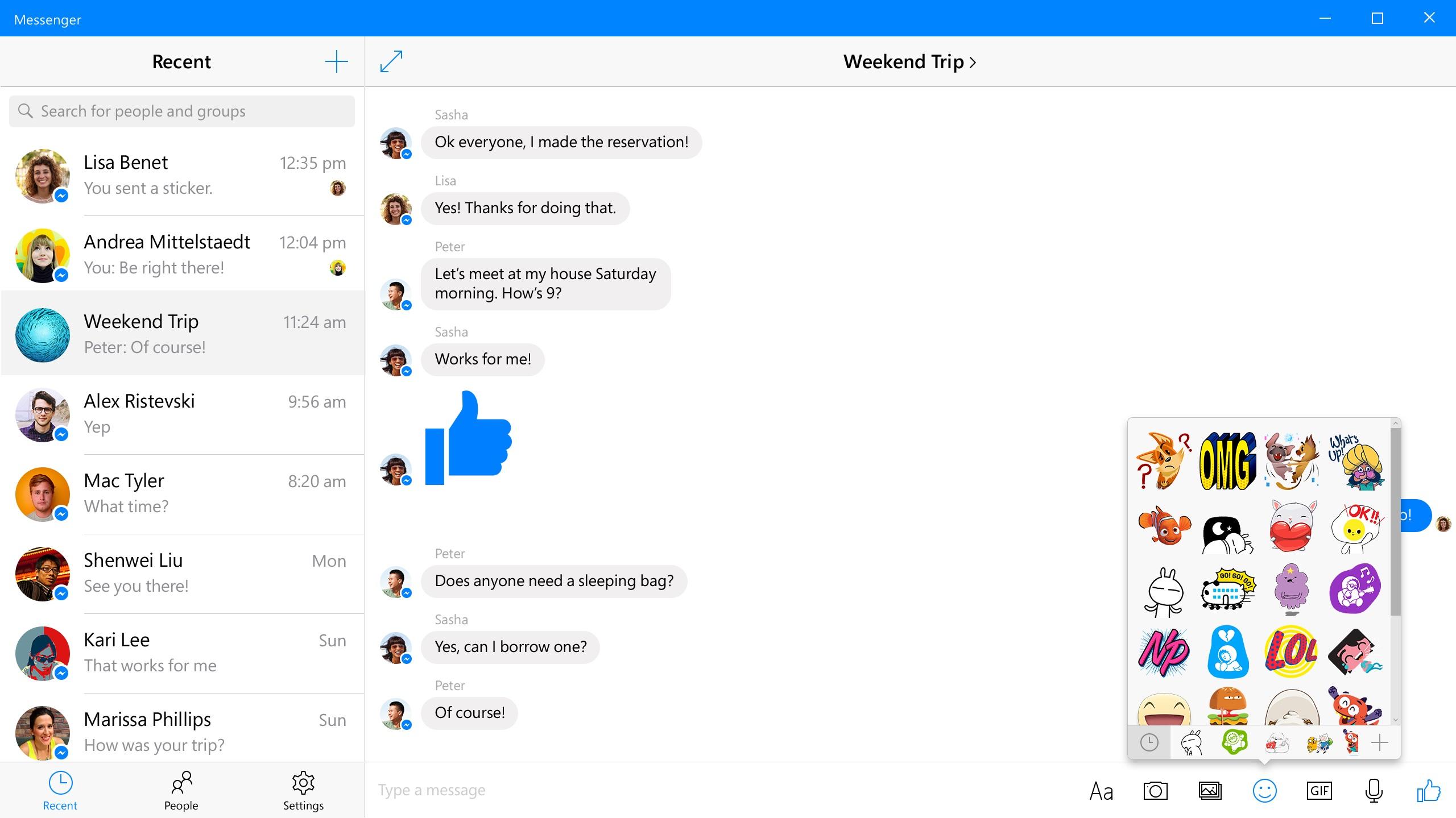 Slik ser Messenger ut.
