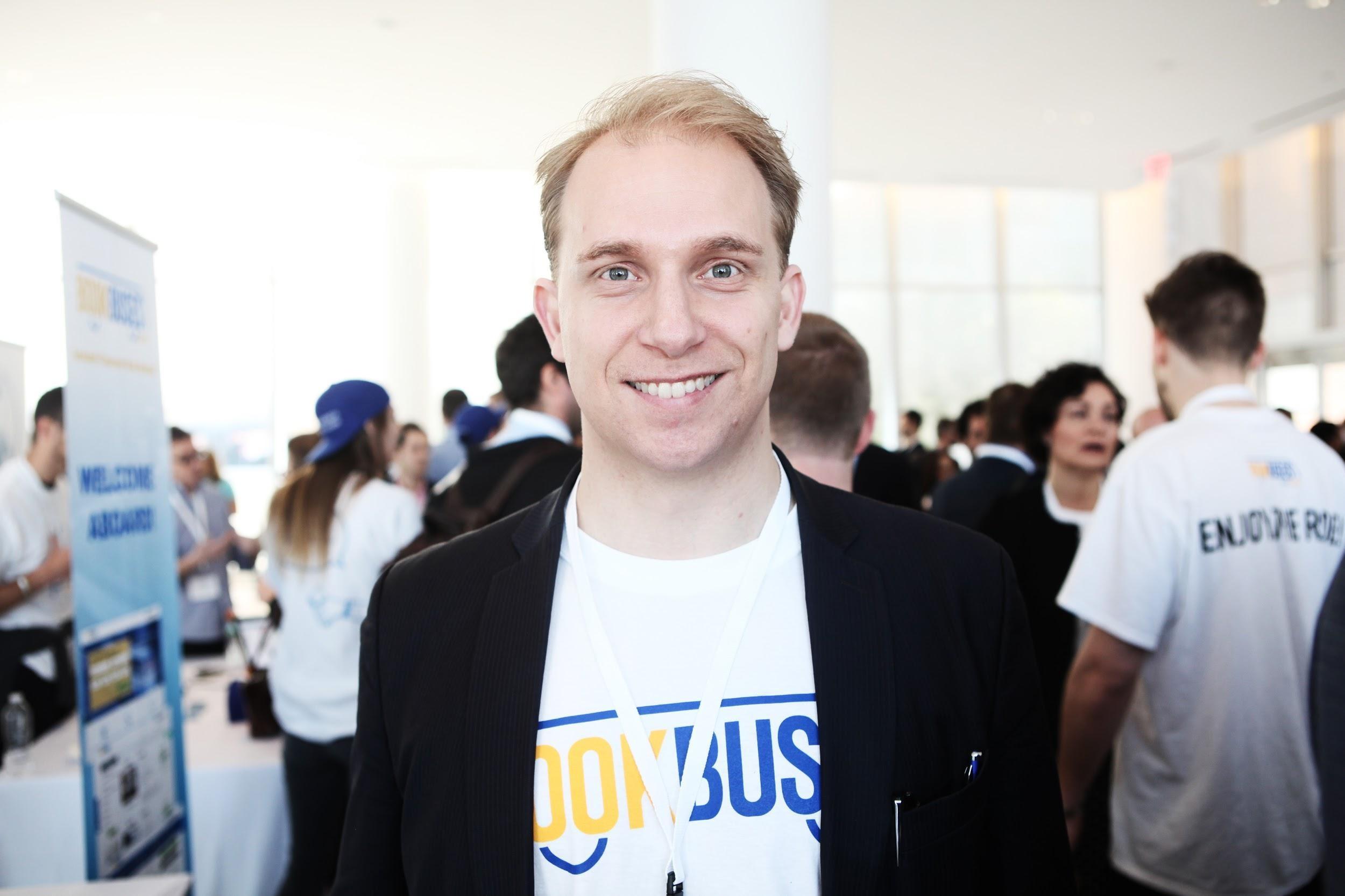 Oscar Aabech Jung (33) er klar for å «pitche» foran 700 investorer på Demo Day i New York.