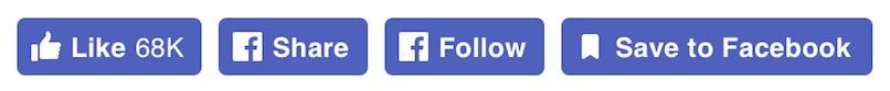 Facebook har oppdatert knappene for liker, del, følg, og lagre til Facebook.