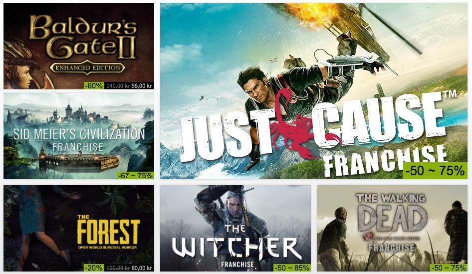 Dette er bare et lite utvalg av dagens fremhevede spill på Steam.