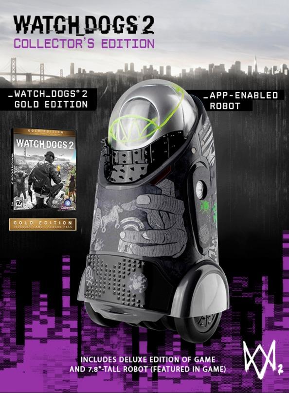 Denne lille roboten følger med hvis du kjøper samlepakken av Watch Dogs 2.