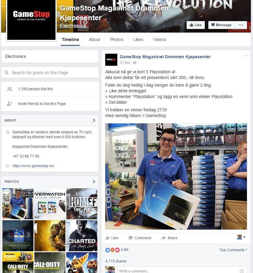 Også forrige uke ble tusenvis av nordmenn lurt av en falsk Facebook-side.
