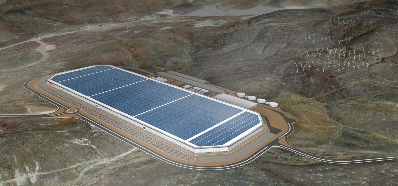 Slik blir Tesla Gigafactory i Reno.