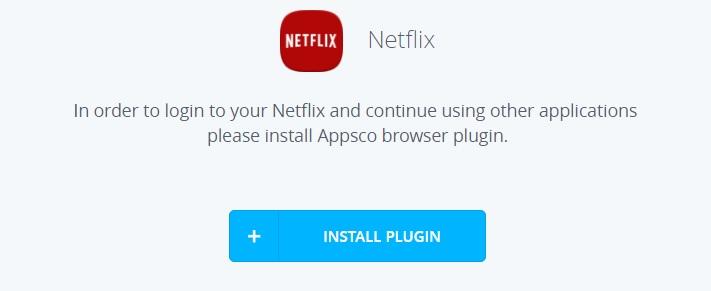 En plugin til Chrome må til for å starte Netflix fra Appsco Dasboardet. Lagrer du passordene dine i Chrome, fylles passordfeltet i Appsco automatisk.
