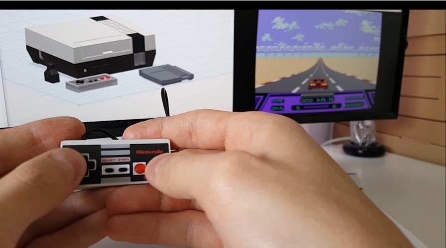 miniNES komplett med mini-håndkontroller