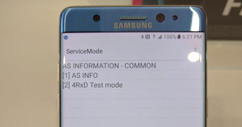 Dette bildet avslører at Note 7 støtter 4x4 MIMO.