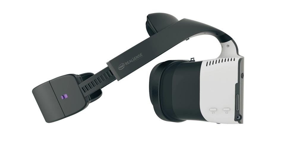 Dette er Intels VR-refereranse-hodesett med alt innebygget.