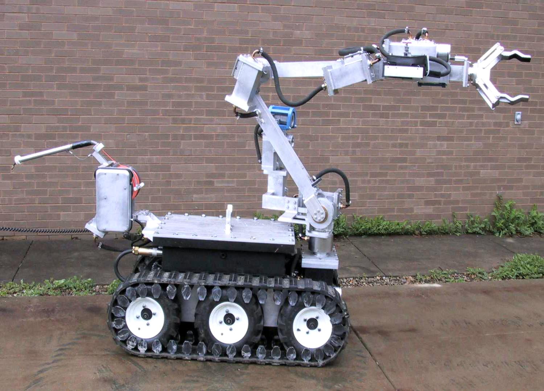 Det var en slik ANDROS robot som ble brukt av politiet.
