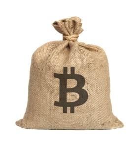 En sekk med digitalvaluta.