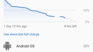 Google Pixel XL-batterilevetid med mye standby-tid