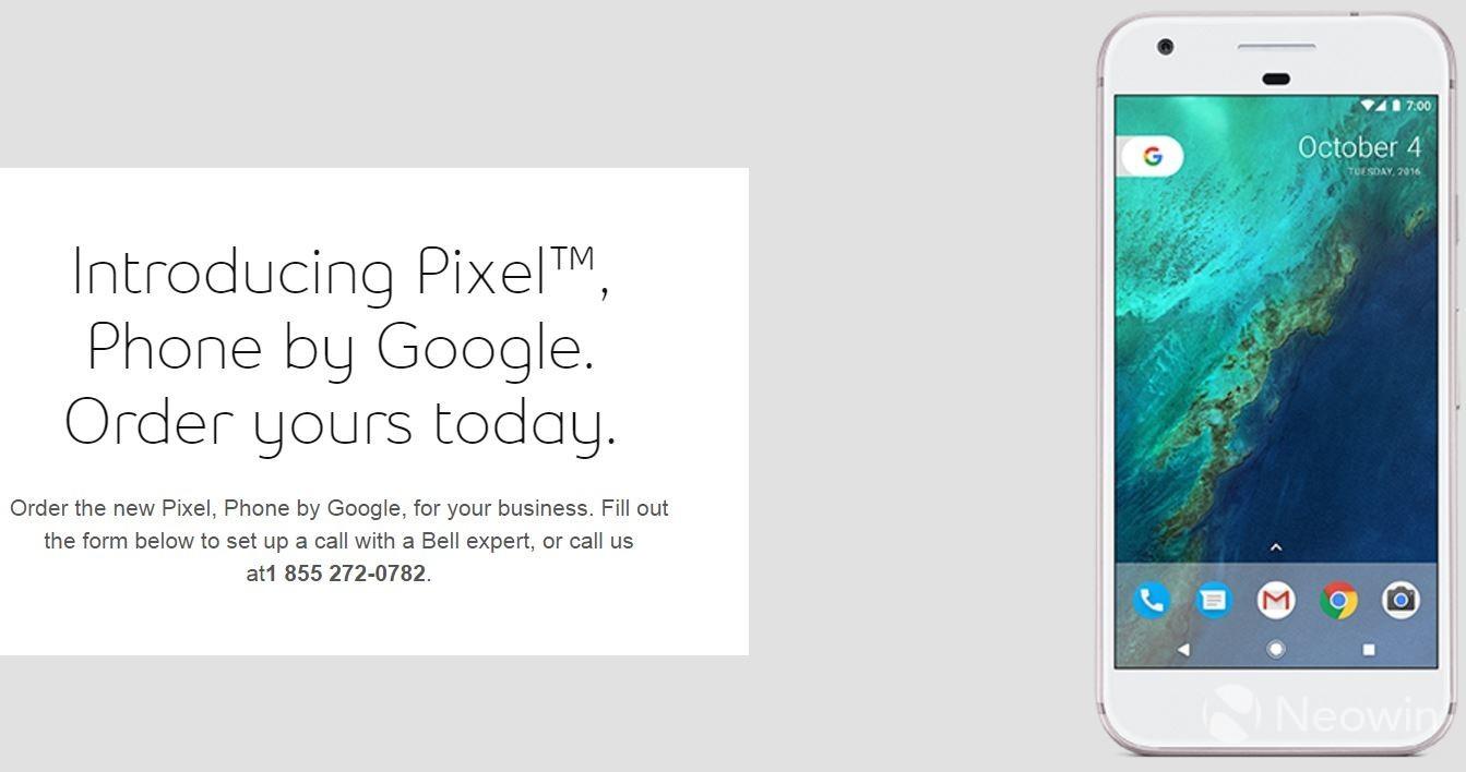 Dette er Google Pixel, en av to mobiler som avdukes førstkommende tirsdag.