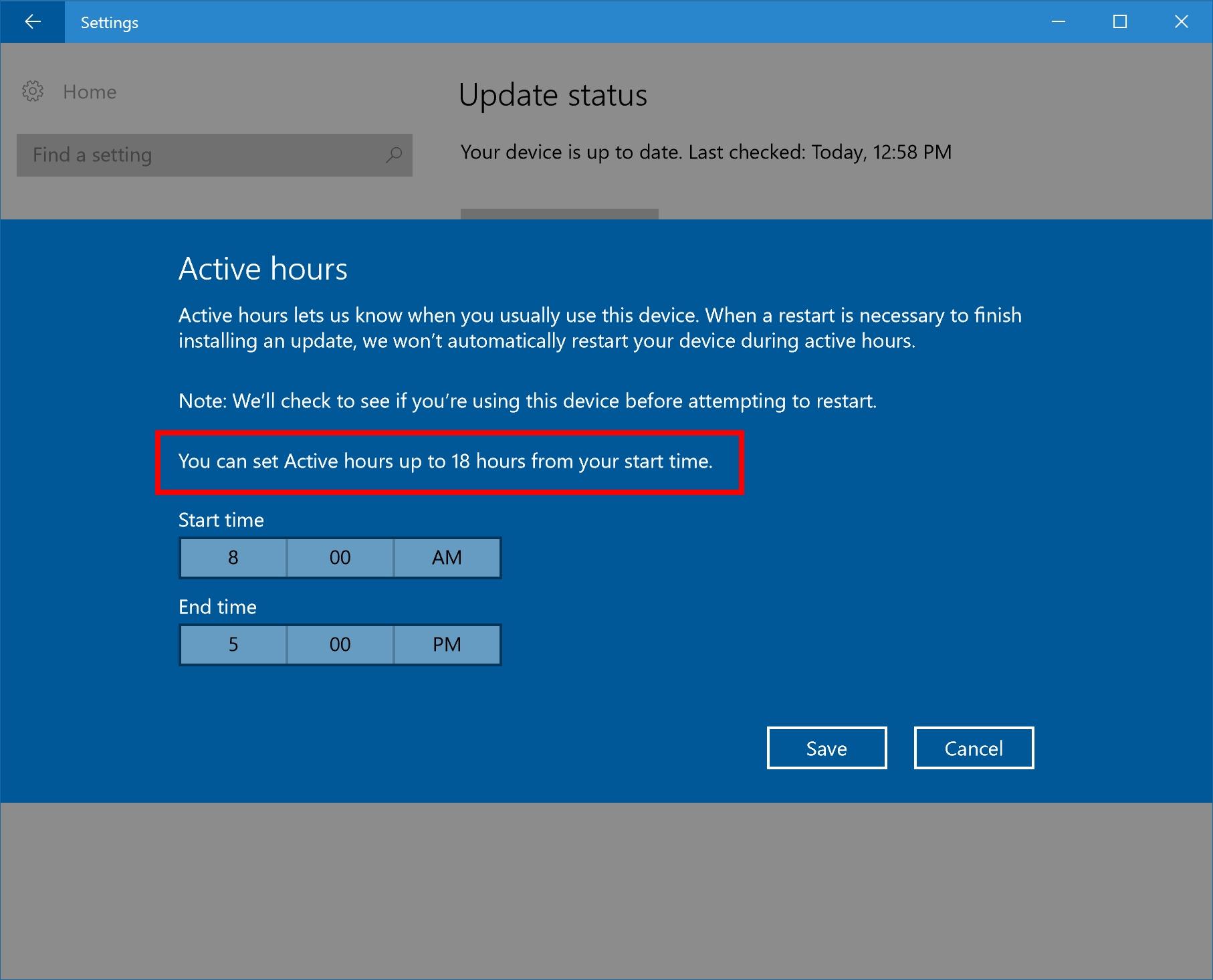 En liten ekstra-forbedring er dessuten at du har et større auto-oppdateringsvindu enn 12 timer å velge mellom nå.