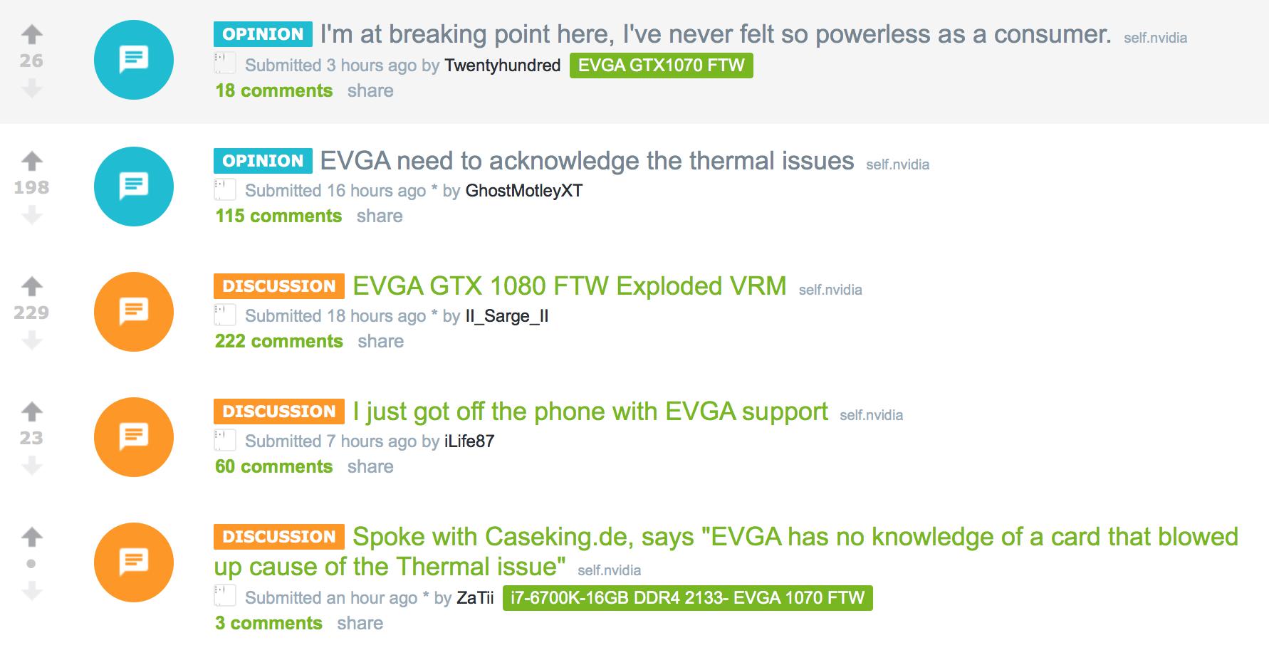 Det er mange som er sinte på EVGA.