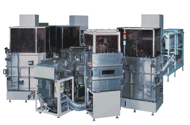 OLED-panelene produseres av en slik maskin.