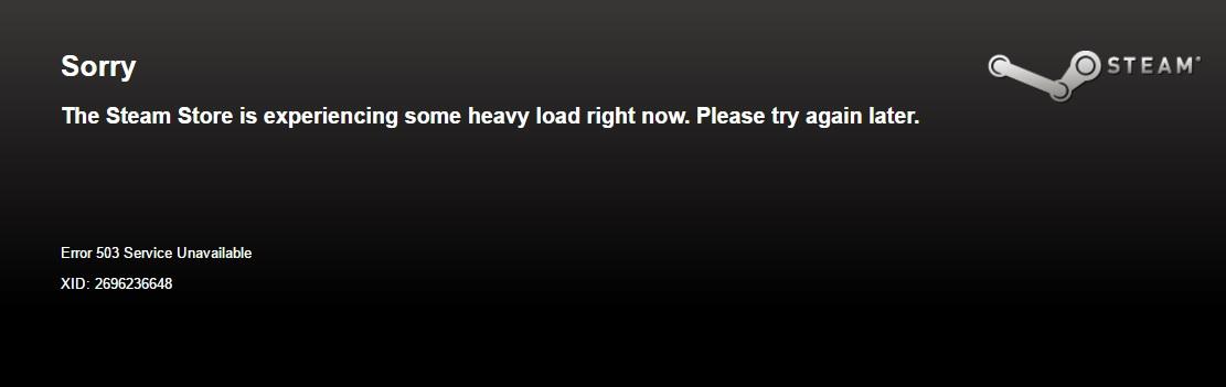 Slik kan det gå når alle vil styrke Steam-biblioteket sitt samtidig.