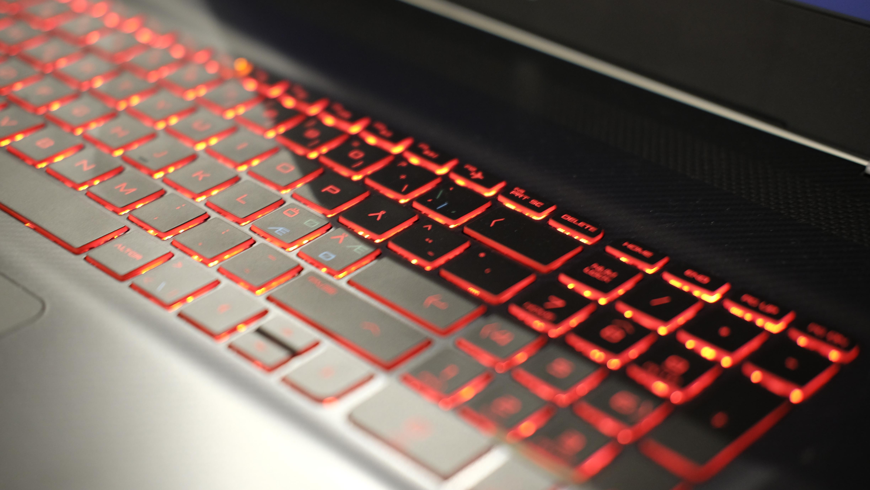 Det rød lyset er det eneste vi liker med tastaturet.