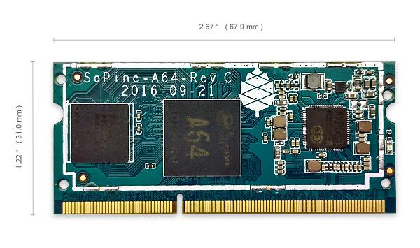 Pine64 går i strupen på Raspberry Pi med Sopine A64.