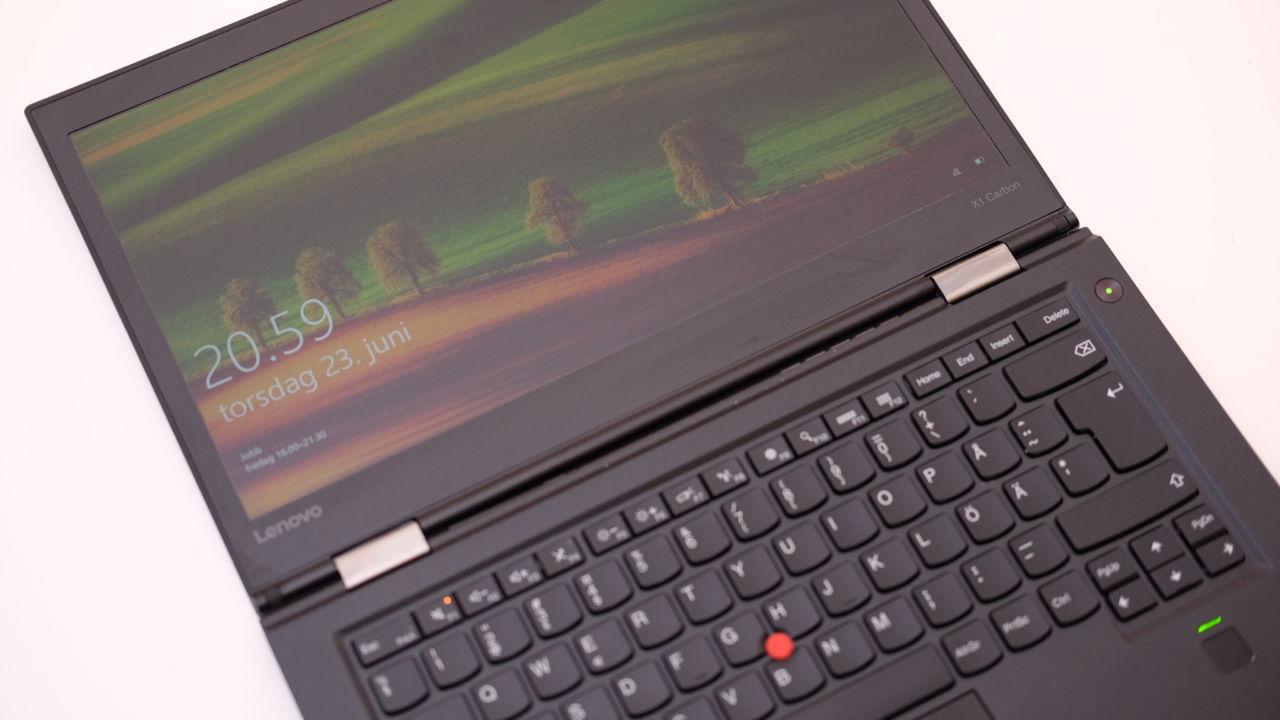 ThinkPad X1 Carbon har kanskje klassens beste tastatur..