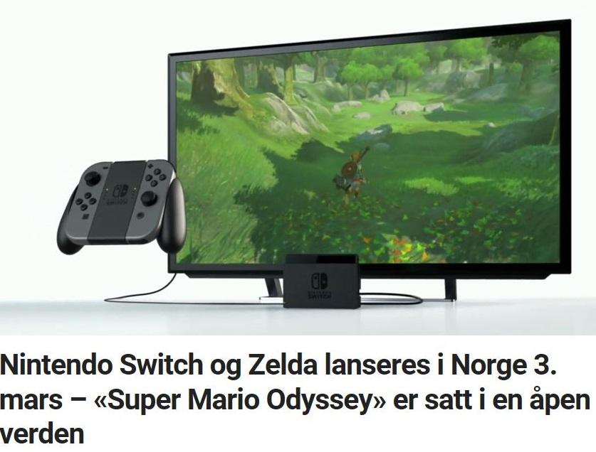 Nintendo Switch og Zelda lanseres i Norge 3. mars – «Super Mario Odyssey» er satt i en åpen verden