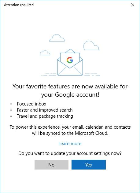 Hvis du ønsker de nye funksjonene, må du godkjenne Cloud-synkronisering.