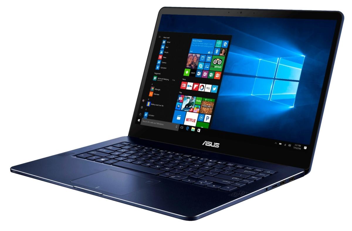ZenBook Pro har GTX 1050 Ti.