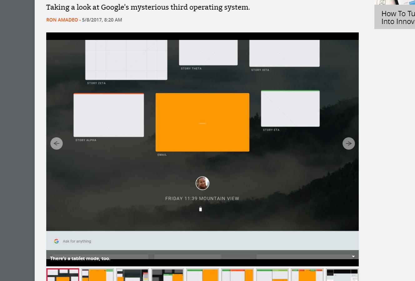 OS-et skalerer allerede til nettbrett med nye og spennende multitasking-funksjoner.