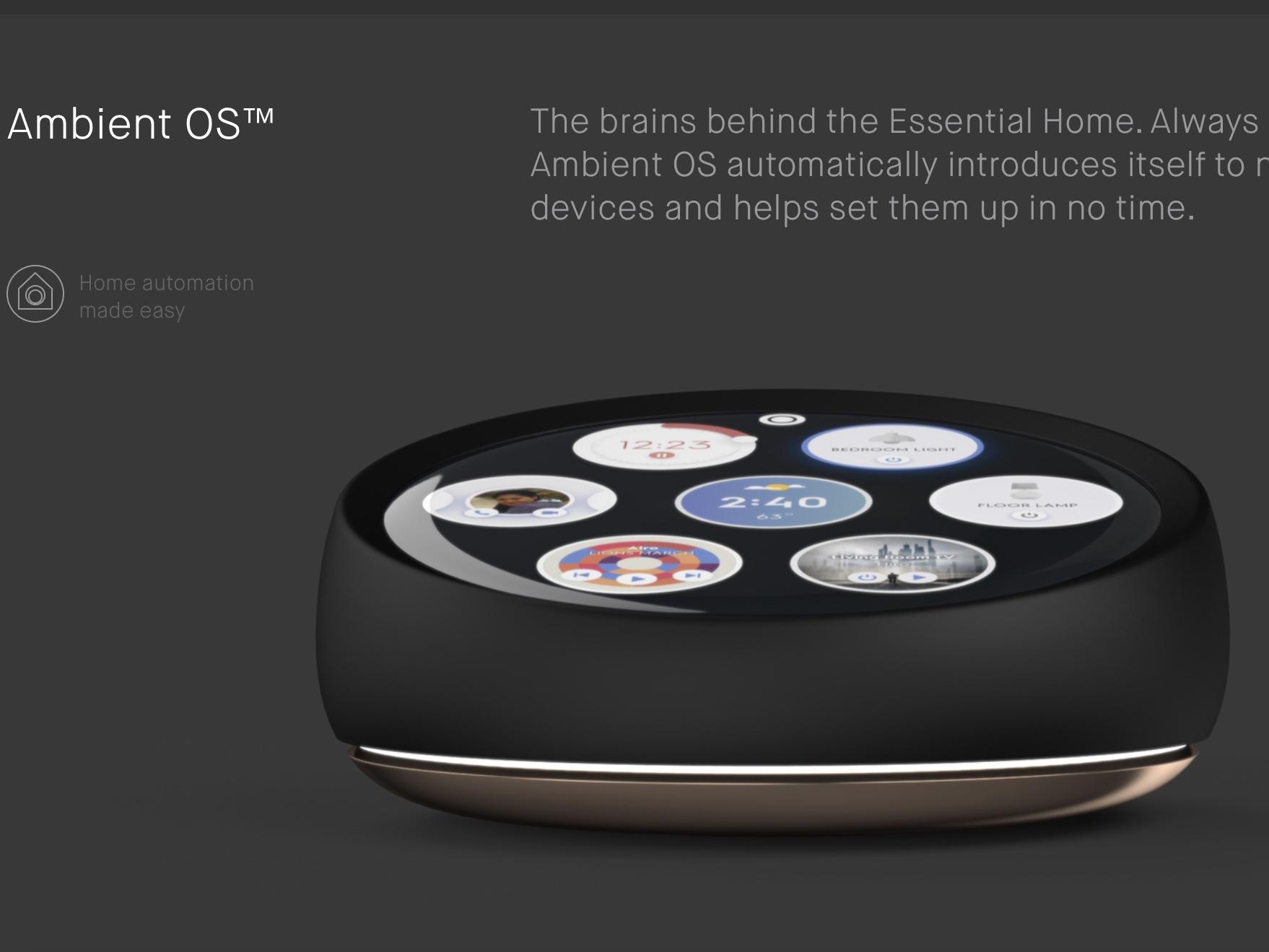 Essential bygger også en smarthøyttaler.