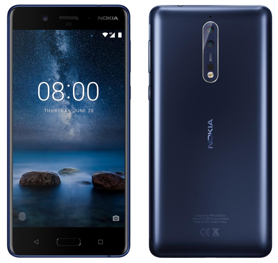Nokia 8 blir trolig seende slik ut.